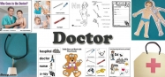 doctor and hospital crafts, activities, games for preschool and kindergarten
