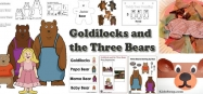 Goldilocks and the Three Bears activities, crafts, games for preschool