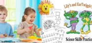 preschool scissor skills activities and worksheets