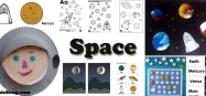Space and astronaut activities, lessons, and games for preschool and kindergarten