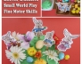 Preschool Easter Bunny small world play area and fine motor skills activity