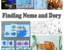 Finding Dory and Nemo preschool  activities and crafts