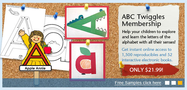 ABC Twiggles Program Letters of the Alphabet learning preschool