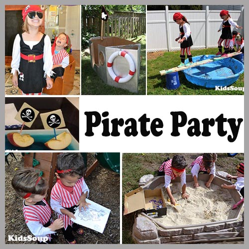 pirate party ideas kids preschool and kindergarten