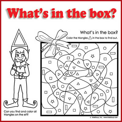 What's in the box? Shape recognition activity preschool