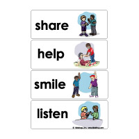 friendship crafts activities games and printables  kidssoup friendship word wall