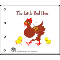 picture regarding The Little Red Hen Story Printable identify The Minor Pink Chicken Preschool Routines and Crafts KidsSoup