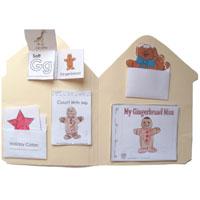 Crafts Gingerbread House Folder Running Man