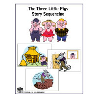 image regarding Three Little Pigs Printable called 3 Small Pigs Things to do, Crafts, Courses, Game titles, and