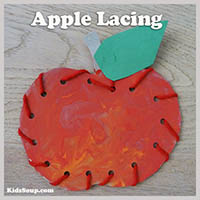 Apple Lacing Fine Motor Skills