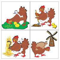 picture relating to The Little Red Hen Story Printable named The Minimal Crimson Bird Preschool Things to do and Crafts KidsSoup