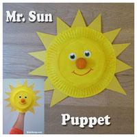 Mr Sun Hand Puppet