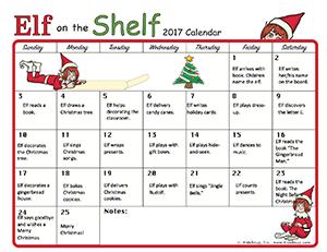 Elf On The Shelf 2018 Calendar Kidssoup Resource Library