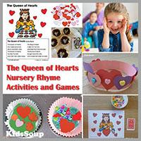 The Queen Of Hearts Nursery Rhyme And Activities