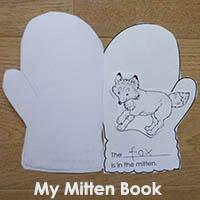 photograph relating to The Mitten Printable Book called My Mitten E book Tale Re-telling KidsSoup Software Library