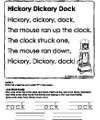 Hickory Dickory Dock Worksheet