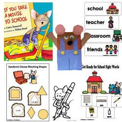 Back to School Preschool Activities, Games, and Printables