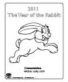 2011 Year of the Rabbit Coloring Page