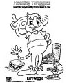 Eartwiggle healthy coloring page