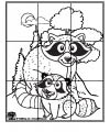 the helping hand book raccoon coloring page kissing