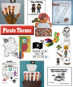Pirate Theme on KidsSoup