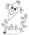 kite coloring craft