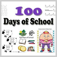 Preschool, kindergarten, 100 Days of School Activities and Games