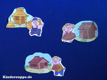 Three Little Pigs Felt Story Activities and Printables for preschool