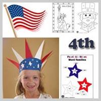 preschool and kindergarten 4th of July activities and crafts
