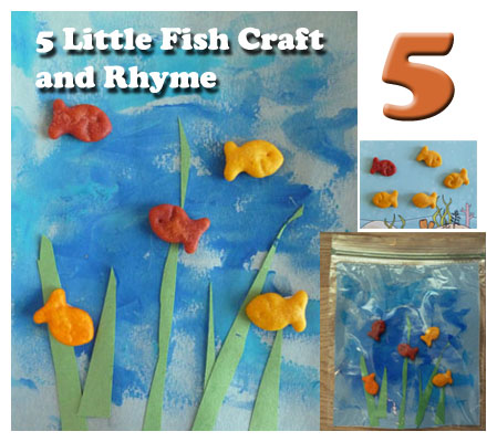 5 Little Fish Craft and Rhyme