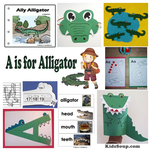 A for Alligator Activities and Crafts | KidsSoup
