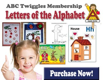 ABC Twiggles Curriculum Letters of the Alphabet preschool activities
