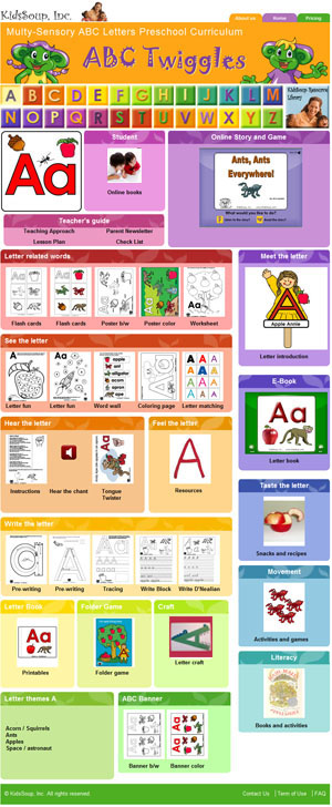 ABC Twiggles letters of the alphabet curriculum