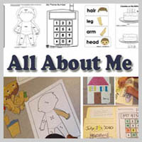 Preschool, Kindergarten, All About Me Activities and Lessons