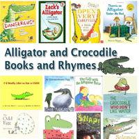 Preschool Kindergarten Crocodile and Alligators Books and Rhymes