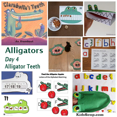 Alligator teeth activities and games for preschool and kindergarten
