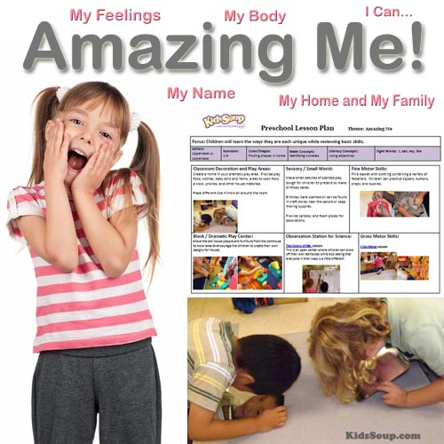 All about me activities and lesson plans for preschool and kindergarten