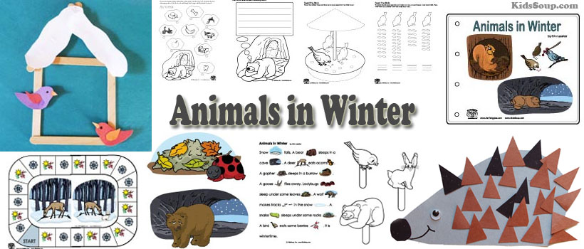 Animals in Winter preschool and kindergarten activities and crafts