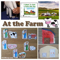 At the farm activities, crafts, and games for preschool and kindergarten