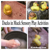Preschool Kindergarten Ducks in Muck Sensory Activities