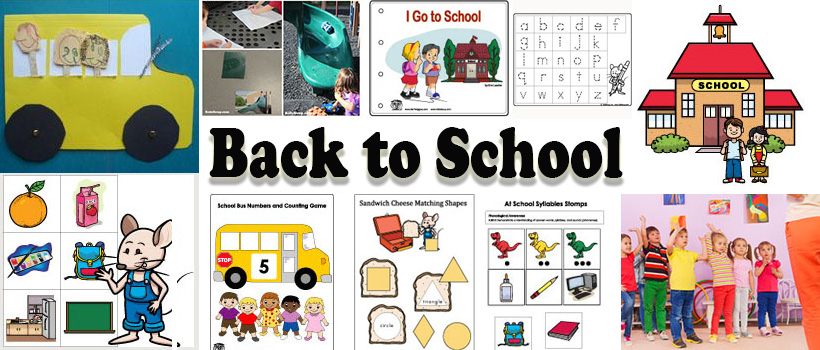 Back to School Preschool Activities, Games, and Printables | KidsSoup