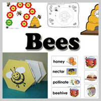 Preschool Kindergarten Bees Activities and Crafts