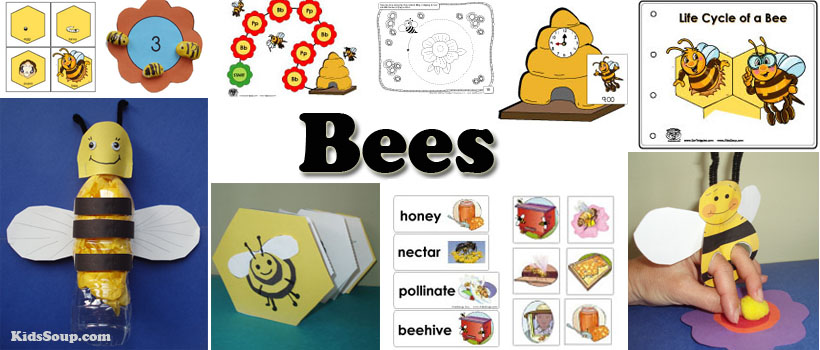 Bees Crafts, Activities, Lessons, Games, and Printables | KidsSoup