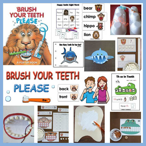 Animal teeth activities and games for preschool and kindergarten
