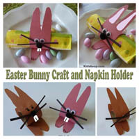 Kids Easter Bunny Craft and Decoration