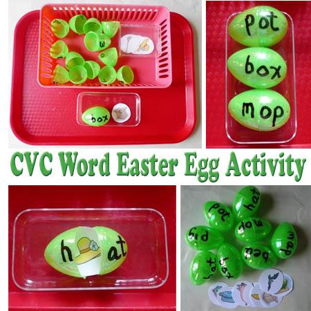 cvc word easter egg activity kidssoup