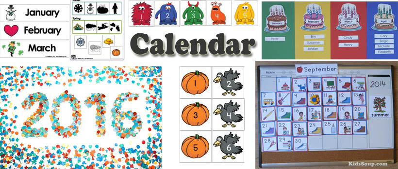 Preschool And Kindergarten Calendar Activities And Printables  Kidssoup