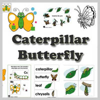 Preschool Kindergarten Butterfly and Caterpillar Activities