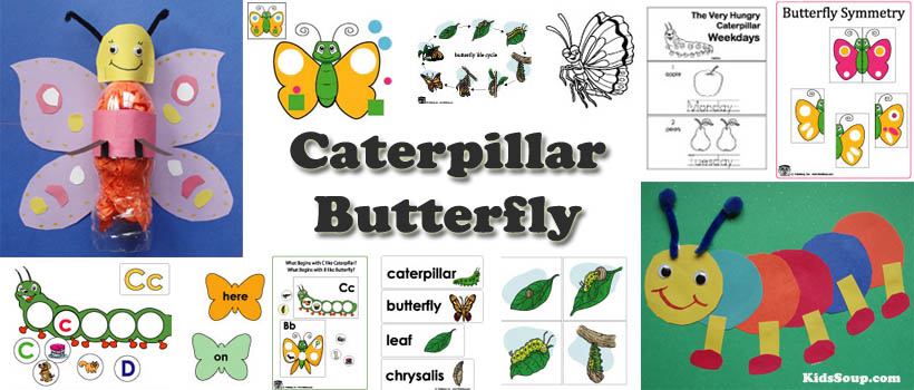 Butterfly and caterpillars preschool activities and crafts