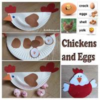 Preschool Kindergarten Chickens and Eggs Activities and Crafts